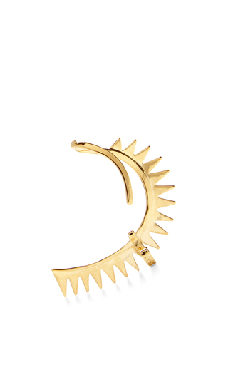 Gold Carnivore Earring by ANNELISE MICHELSON Now Available on Moda Operandi