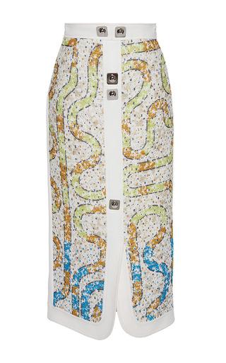 Medium peter pilotto white labyrinth skirt