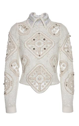 Medium peter pilotto white tundra blouse