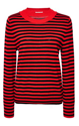Medium sonia by sonia rykiel red light wool striped sweater