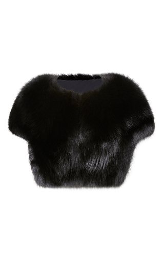 Medium elie saab black fox fur bolero