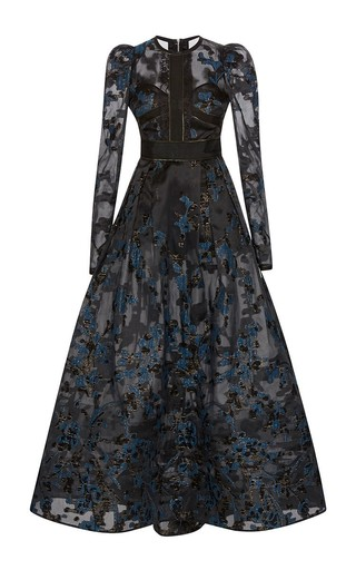 Medium elie saab black radiance fil coupe a line gown