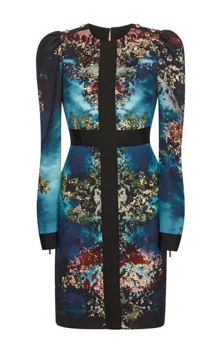 Medium elie saab multi printed cady sheath dress