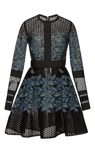 Medium elie saab black tree petal thread embroidered dress