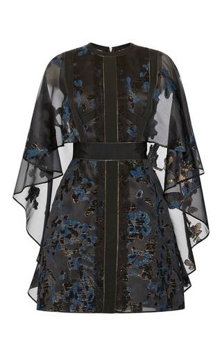 Medium elie saab black radiance fil coupe capeline dress