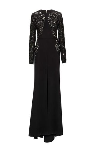 Medium elie saab black embroidered cady gown