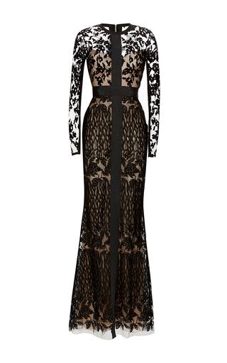 Medium elie saab black threadwork embroidery mermaid gown
