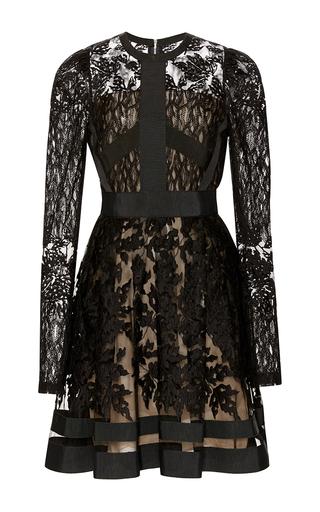 Medium elie saab black lace juliet sleeve dress