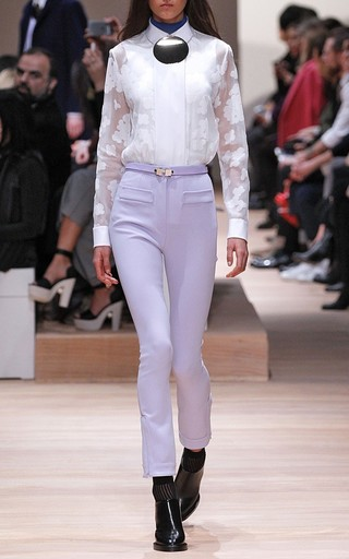 Lilac Double Crepe Skinny Pant by CARVEN Now Available on Moda Operandi