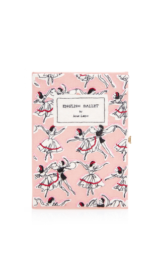 Medium olympia le tan pink english ballet book clutch