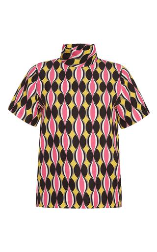 Medium jonathan saunders print hot pink drop printed marlee top