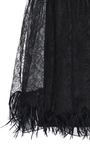 Chantilly Lace Skirt With Black Wool Suiting Back by ROCHAS for Preorder on Moda Operandi