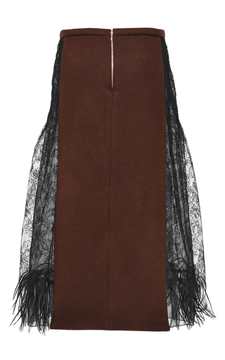 Chantilly Lace Fit And Flare Skirt by ROCHAS for Preorder on Moda Operandi