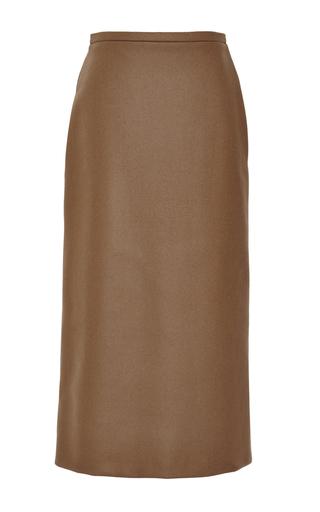 Medium rochas green doubleface boiled cashmere pencil skirt