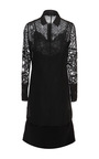 Long Sleeve Lace Polka Dot Sheath Dress by ROCHAS for Preorder on Moda Operandi