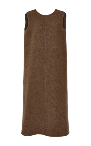 Medium rochas green doubleface boiled cashmere shift dress