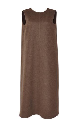 Medium rochas green olive wool cashmere sleeveless dress