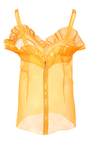 Crinkle Organza Sweetheart Top by ROCHAS for Preorder on Moda Operandi