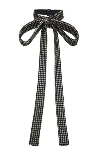 Medium rochas black pied de poule detachable neck tie