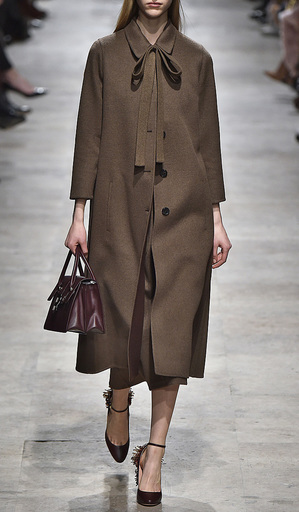 Olive Wool Cashmere Detachable Neck Tie by ROCHAS for Preorder on Moda Operandi