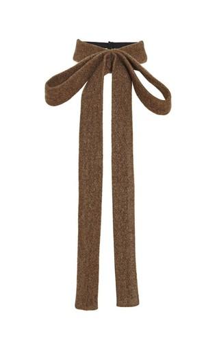Medium rochas green olive wool cashmere detachable neck tie