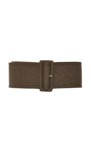 Medium rochas green olive buckle belt