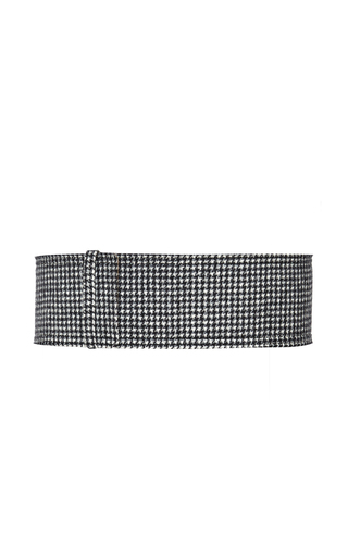 Doubleface Pied De Poule Belt by ROCHAS for Preorder on Moda Operandi
