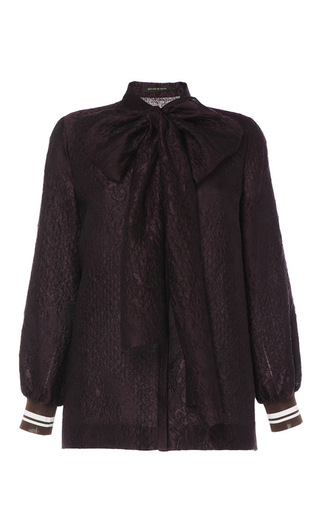 Medium mother of pearl purple aubergine charny blouse