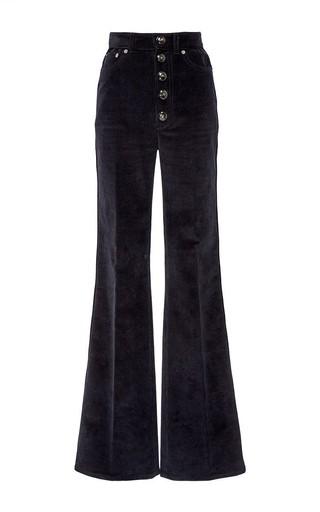 Medium sonia rykiel black black corduroy high waist flare pant