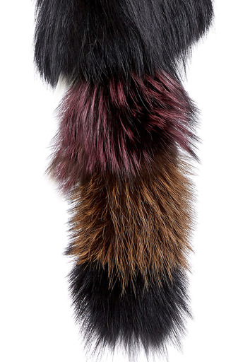 Knitted Silver Fox Fur Scarf by SONIA RYKIEL for Preorder on Moda Operandi