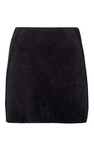 Medium sonia rykiel black velvet ribs mini skirt