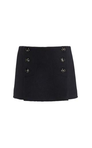 Medium sonia rykiel blue boiled wool sailor micro skirt