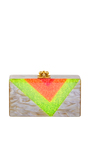 Jean Vee Neon And Glitter Clutch by EDIE PARKER Now Available on Moda Operandi