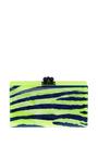 Jean Zebra Neon Clutch by EDIE PARKER Now Available on Moda Operandi