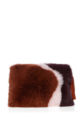 Medium roksanda ilincic multi chesnut lyell clutch bag