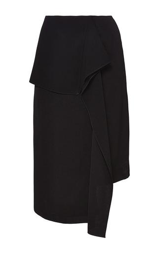 Medium j w anderson black black satin crepe wave drape skirt