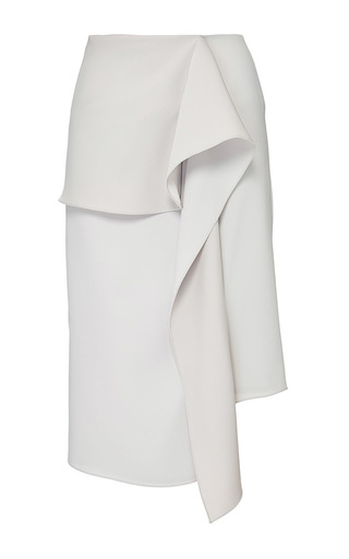 Medium j w anderson white stone satin crepe wave drape skirt