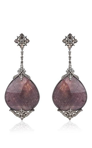 Medium bochic multi sapphire and diamond earrings
