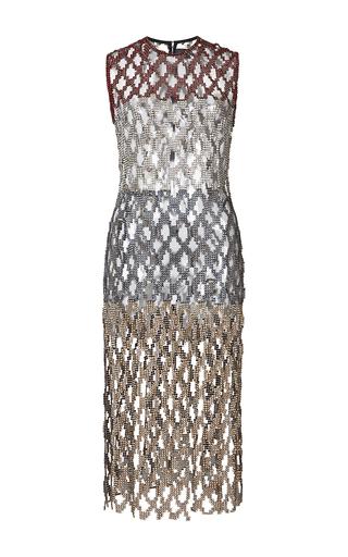 Medium huishan zhang blue crystal dress