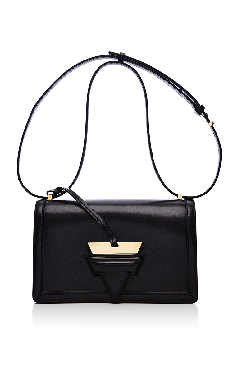 9da13d2dc4 LoeweBarcelona Shoulder Bag In Black Calf Leather. CLOSE. Loading