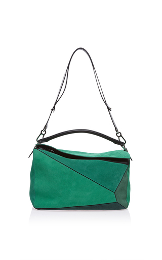 Medium loewe green small puzzle bag in green