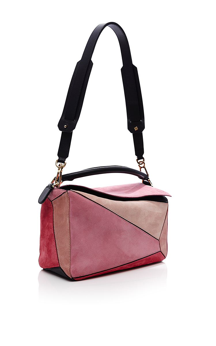 Relatively Small Puzzle Bag In Pink Suede by Loewe | Moda Operandi JF85