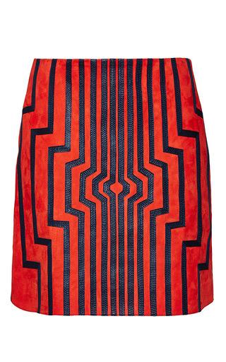 Medium loewe red red cyborg mini skirt