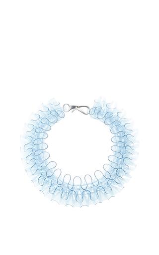Medium mary katrantzou blue baby blue pvc necklace