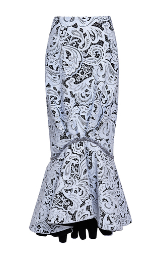 Medium mary katrantzou print ariel skirt in halogen blue