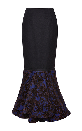 Medium mary katrantzou black posiden skirt in midnight