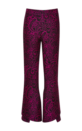 Medium mary katrantzou pink clockwork trouser in paisley pink