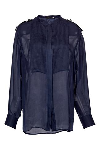 Medium isabel marant blue midnight satin sophia blouse