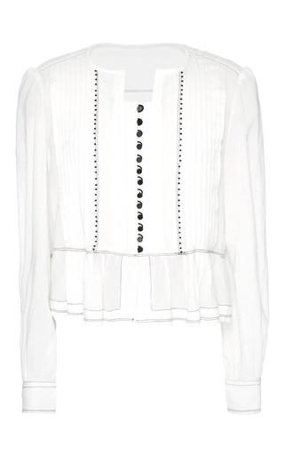 Medium isabel marant white ecru pleated crepe randal top
