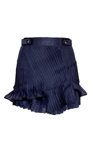 Medium isabel marant blue satin shauna skirt